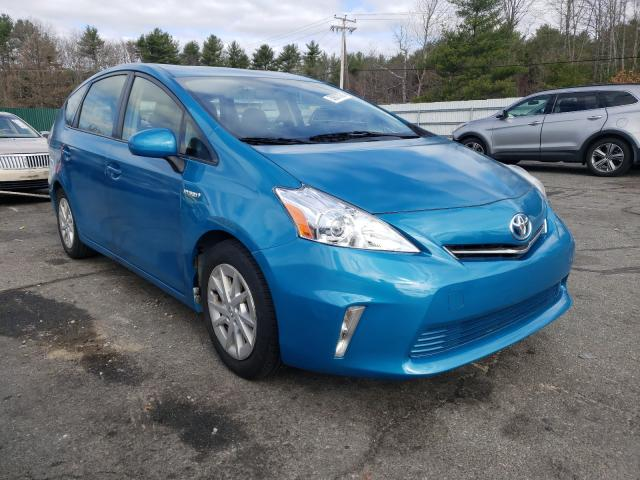 Salvage cars for sale from Copart Exeter, RI: 2013 Toyota Prius V