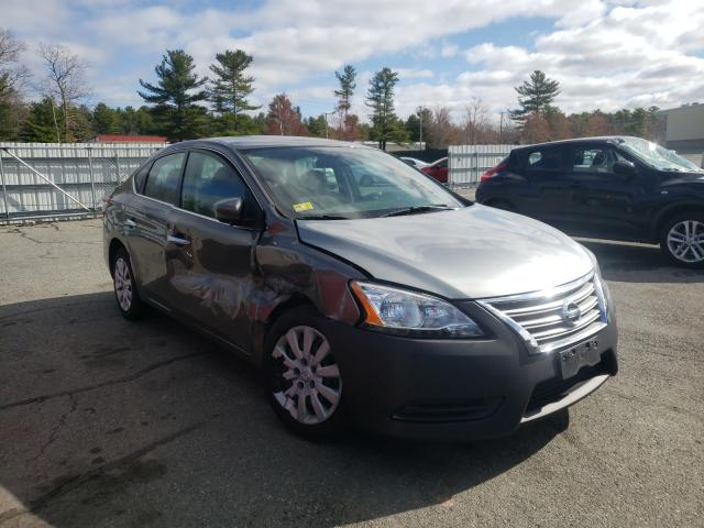 Salvage cars for sale from Copart Exeter, RI: 2015 Nissan Sentra S