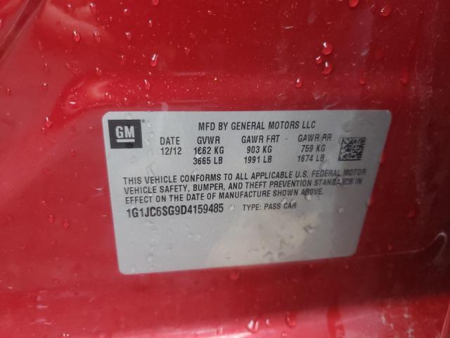 2013 CHEVROLET SONIC LT 1G1JC6SG9D4159485