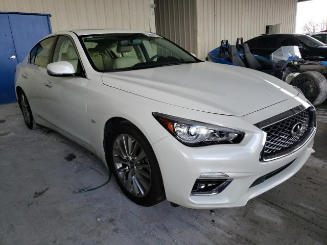Salvage cars for sale from Copart Homestead, FL: 2019 Infiniti Q50