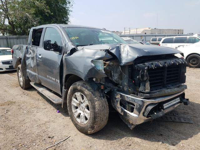 Salvage cars for sale from Copart Mercedes, TX: 2018 Nissan Titan SV