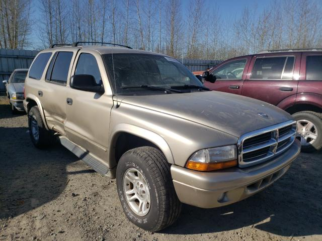 Salvage cars for sale from Copart Arlington, WA: 2003 Dodge Durango SL