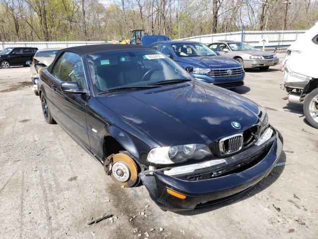 Salvage cars for sale from Copart Ellwood City, PA: 2003 BMW 330 CI