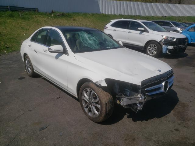 Salvage cars for sale from Copart Marlboro, NY: 2017 Mercedes-Benz C 300 4matic