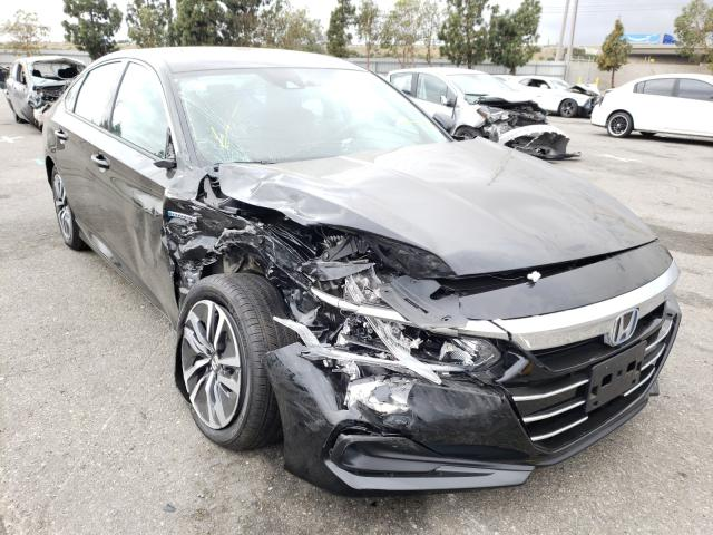 Salvage cars for sale from Copart Rancho Cucamonga, CA: 2021 Honda Accord Hybrid