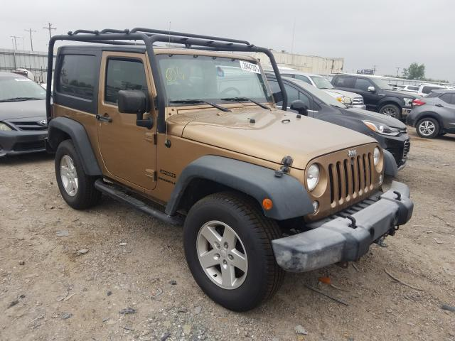 Salvage cars for sale from Copart Mercedes, TX: 2015 Jeep Wrangler S