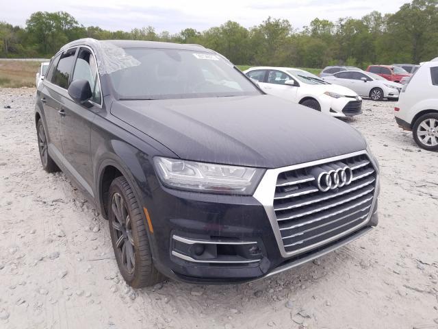 Salvage cars for sale from Copart Cartersville, GA: 2017 Audi Q7 Premium