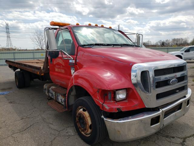 Salvage cars for sale from Copart Woodhaven, MI: 2006 Ford F650 Super