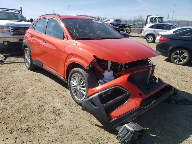 Salvage cars for sale from Copart Nisku, AB: 2019 Hyundai Kona SEL