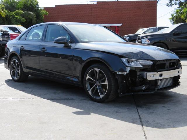 Salvage cars for sale from Copart Colton, CA: 2019 Audi A4 Premium