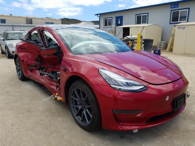 Salvage cars for sale from Copart Kapolei, HI: 2021 Tesla Model 3