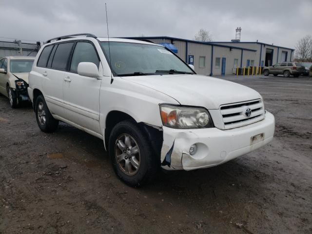 Salvage cars for sale from Copart Finksburg, MD: 2004 Toyota Highlander