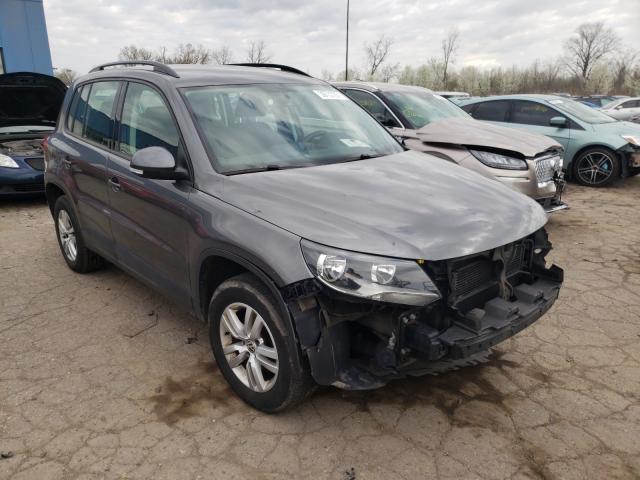 Volkswagen salvage cars for sale: 2015 Volkswagen Tiguan S