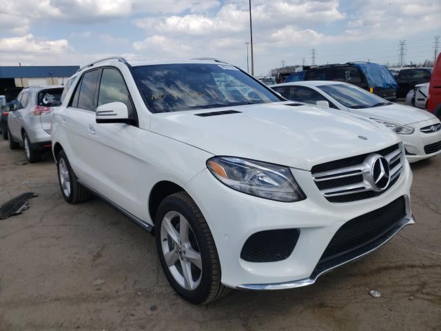 Salvage cars for sale from Copart Woodhaven, MI: 2018 Mercedes-Benz GLE 350 4M