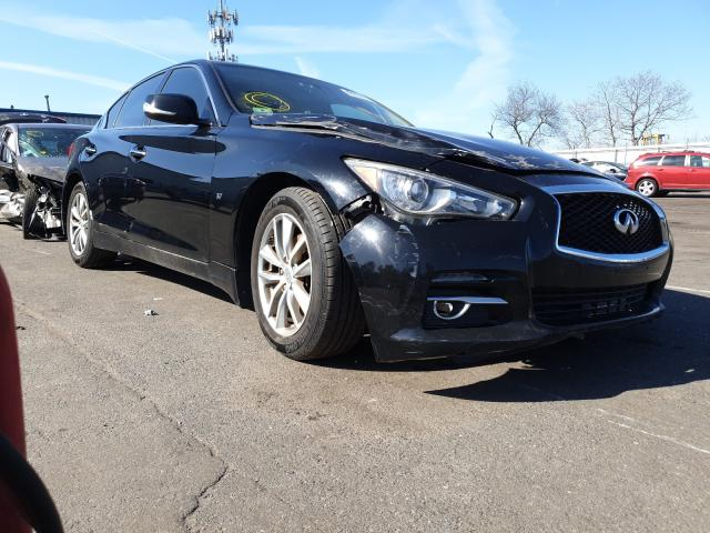 Salvage cars for sale from Copart Brookhaven, NY: 2015 Infiniti Q50 Base