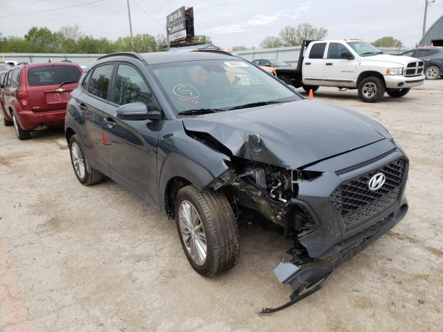 Salvage cars for sale from Copart Wichita, KS: 2021 Hyundai Kona SEL