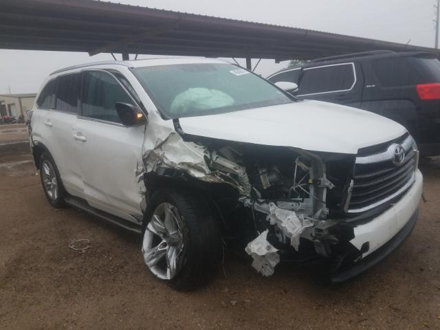 Salvage cars for sale from Copart Temple, TX: 2016 Toyota Highlander