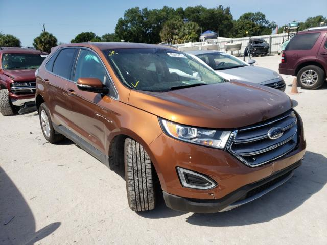 Salvage cars for sale from Copart Punta Gorda, FL: 2017 Ford Edge SEL