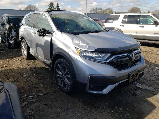 Salvage cars for sale from Copart Cudahy, WI: 2021 Honda CR-V Touring