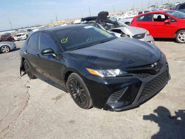 Salvage cars for sale from Copart Sun Valley, CA: 2020 Toyota Camry SE
