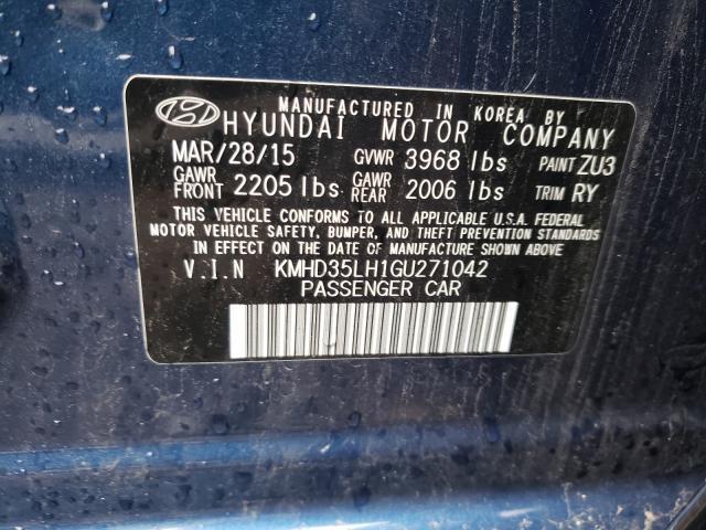 2016 HYUNDAI ELANTRA GT KMHD35LH1GU271042