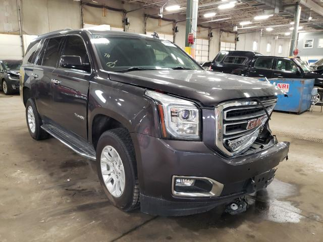 Salvage cars for sale from Copart Blaine, MN: 2015 GMC Yukon SLE