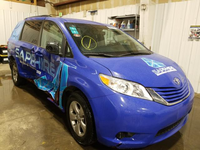 Salvage cars for sale from Copart Anchorage, AK: 2017 Toyota Sienna LE