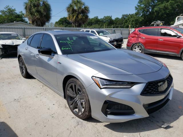 Salvage cars for sale from Copart Punta Gorda, FL: 2021 Acura TLX Tech A