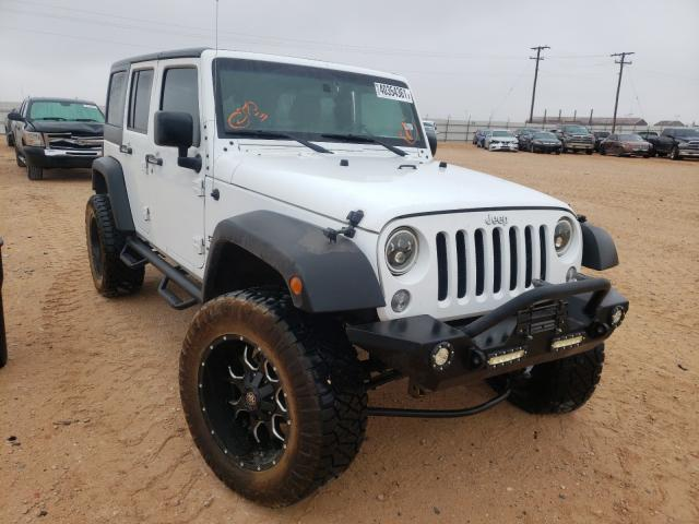 Salvage cars for sale from Copart Andrews, TX: 2016 Jeep Wrangler U