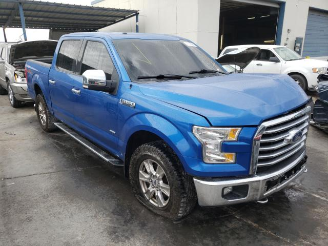Salvage cars for sale from Copart Anthony, TX: 2015 Ford F150 Super