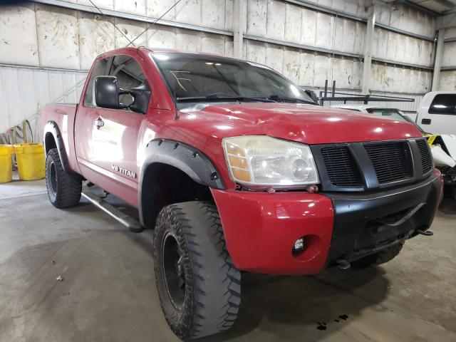 Salvage cars for sale from Copart Woodburn, OR: 2005 Nissan Titan XE
