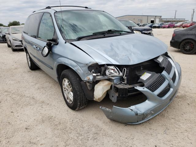 Salvage cars for sale from Copart San Antonio, TX: 2003 Dodge Grand Caravan