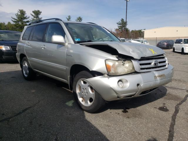 Salvage cars for sale from Copart Exeter, RI: 2004 Toyota Highlander