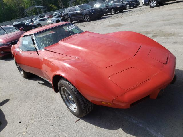 Chevrolet salvage cars for sale: 1975 Chevrolet Corvette