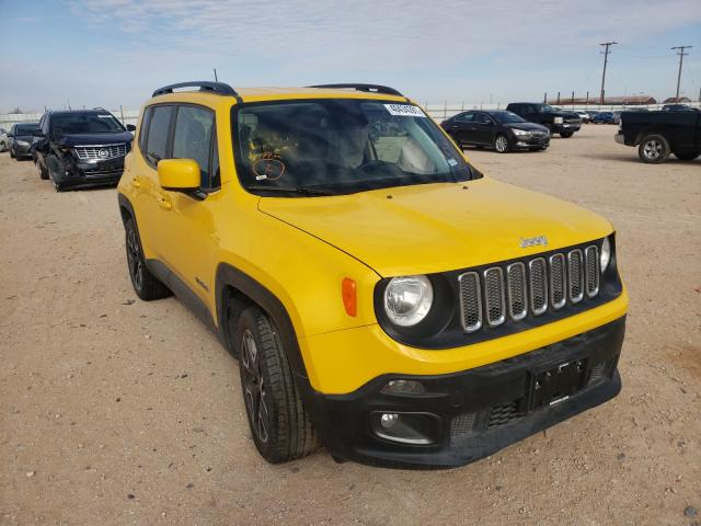 Salvage cars for sale from Copart Andrews, TX: 2018 Jeep Renegade L