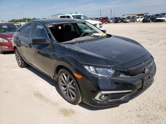 Salvage cars for sale from Copart San Antonio, TX: 2020 Honda Civic EXL