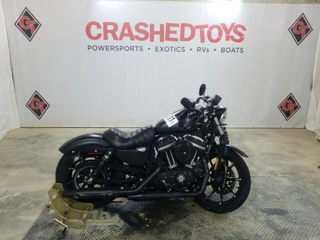Salvage motorcycles for sale at Columbia, MO auction: 2017 Harley-Davidson XL883 Iron