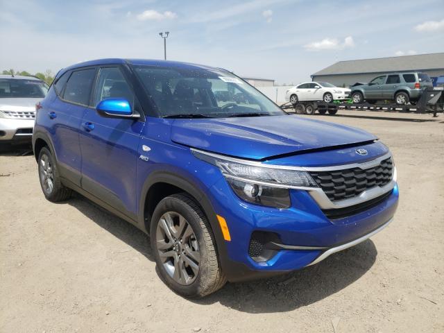 KIA Vehiculos salvage en venta: 2021 KIA Seltos LX