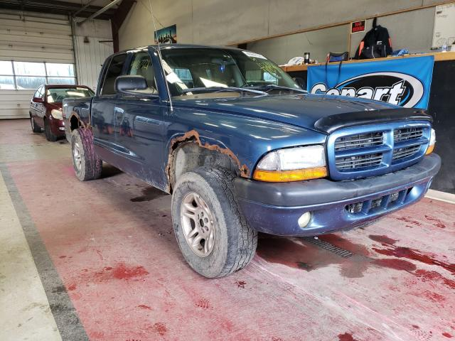 Salvage cars for sale from Copart Angola, NY: 2003 Dodge Dakota Quattro