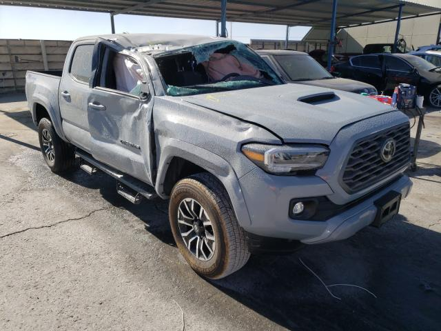 Salvage cars for sale from Copart Anthony, TX: 2021 Toyota Tacoma DOU