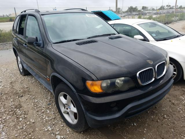 Salvage cars for sale from Copart West Palm Beach, FL: 2001 BMW X5 3.0I