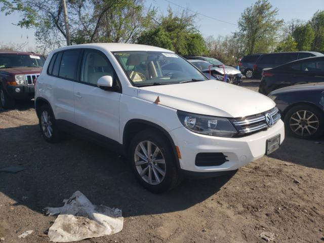 Salvage cars for sale from Copart Baltimore, MD: 2014 Volkswagen Tiguan S