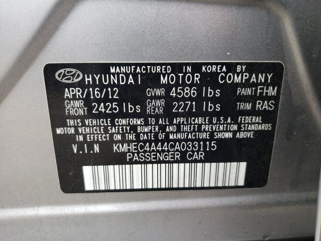 2012 HYUNDAI SONATA HYB KMHEC4A44CA033115