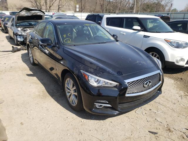 Salvage cars for sale from Copart Billerica, MA: 2016 Infiniti Q50 Base