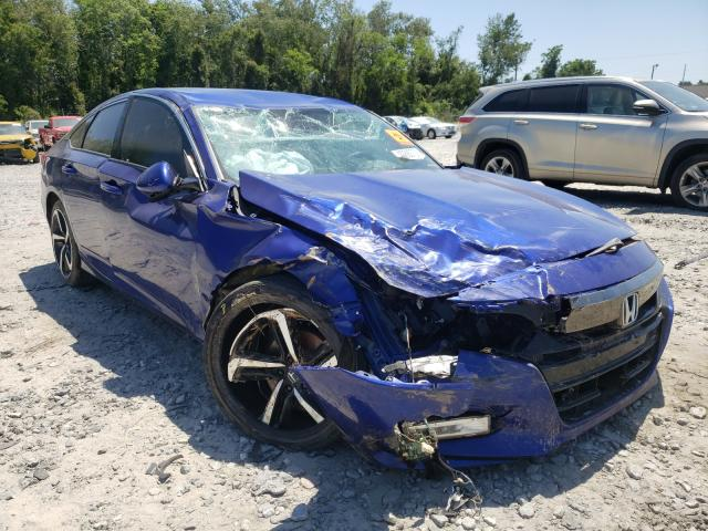 Salvage cars for sale from Copart Tifton, GA: 2018 Honda Accord Sport