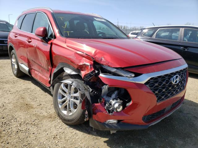 Salvage cars for sale from Copart Nisku, AB: 2019 Hyundai Santa FE S