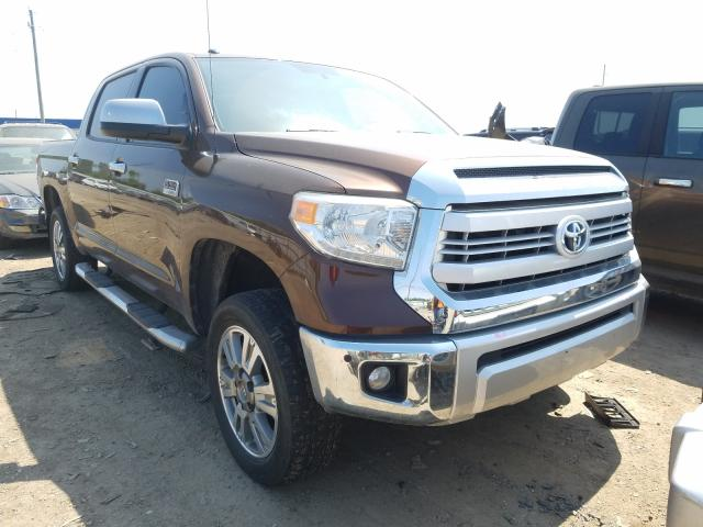 Salvage cars for sale from Copart Houston, TX: 2014 Toyota Tundra CRE
