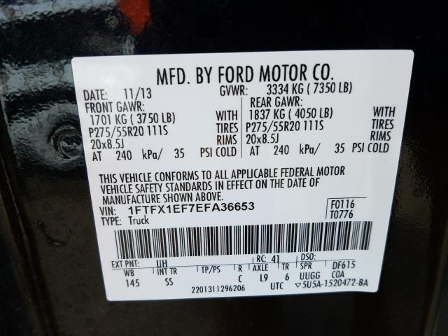 2014 FORD F150 SUPER 1FTFX1EF7EFA36653