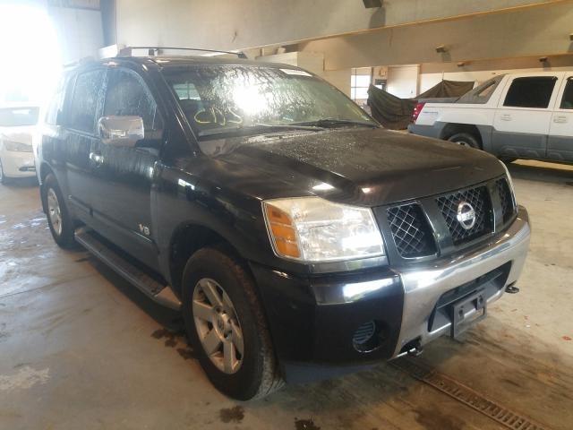 Salvage cars for sale from Copart Sandston, VA: 2005 Nissan Armada SE