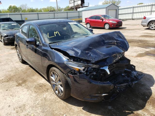 Salvage cars for sale from Copart Wichita, KS: 2018 Mazda 3 Grand Touring